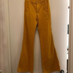 Tory Burch High Waisted Flare Mustard Yellow 24